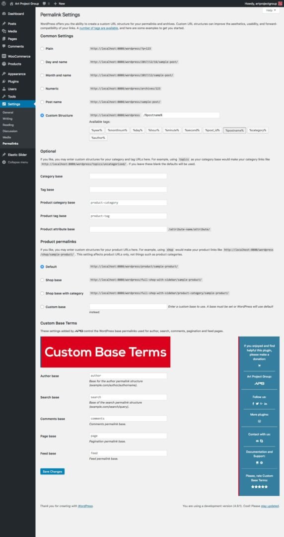 Custom Base Terms