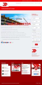Captura de pantalla del sitio web de Autocaravanas Europa. Alquiler de autocaravanas en España y Europa