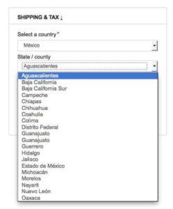 ¿Cómo añadir los estados mexicanos a WooCommerce?