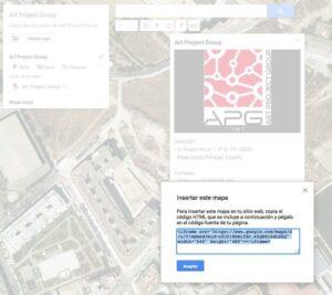 Insertar mapa en mi sitio web