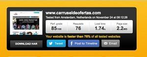 Nuevo test de velocidad de Carrusel de Ofertas