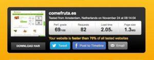 Nuevo test de velocidad de ComeFruta
