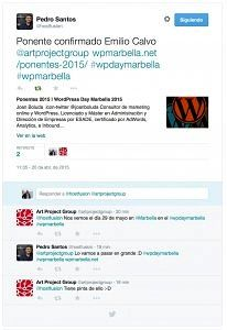 Tweet de WordPress Day Marbella 2015