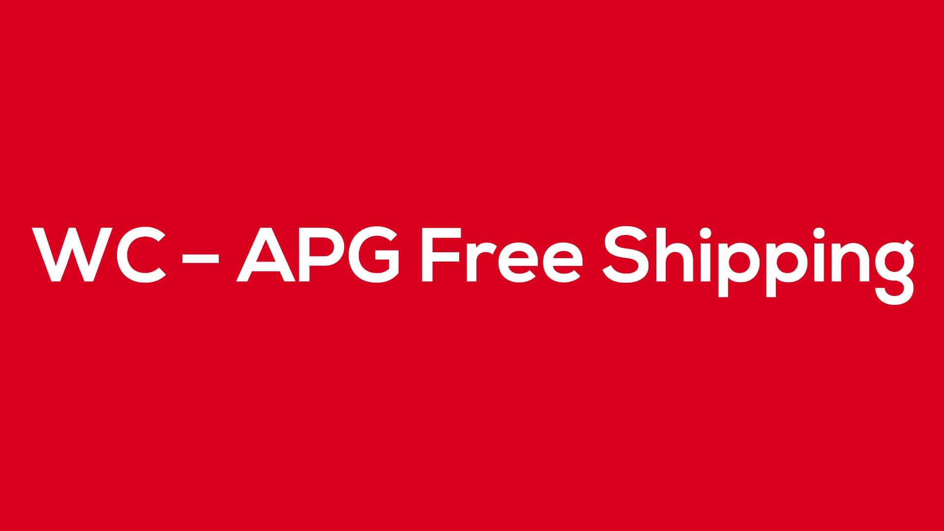 WC – APG Free Shipping - Blog