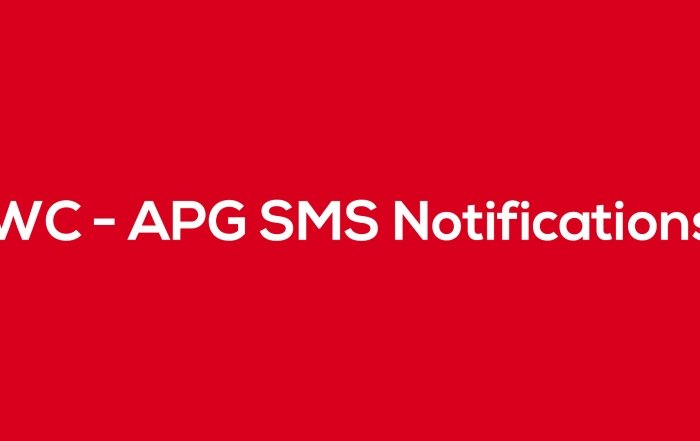 WC - APG SMS Notifications - Blog