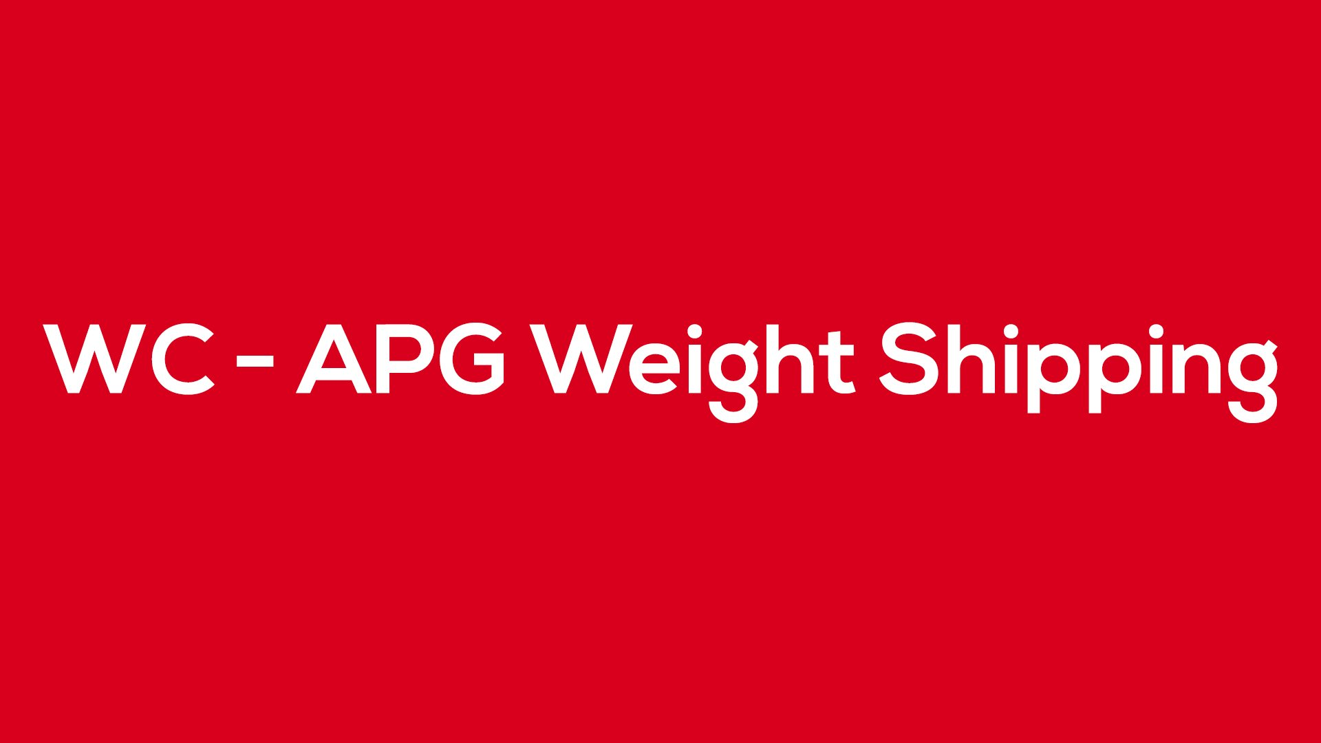 WC - APG Weight Shipping - Blog