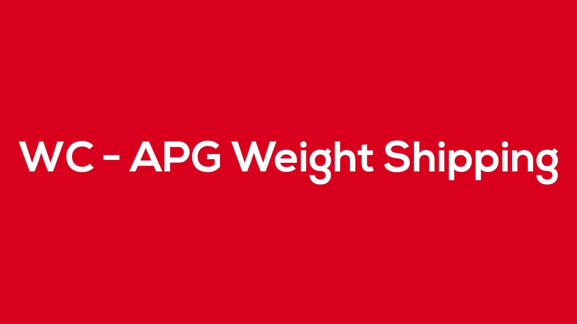 WC - APG Weight Shipping - Blog